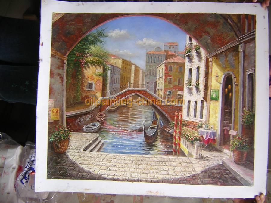 零售价:850元 刀风景油画:fj057 尺寸:24x36英寸 零售价:150元 窗景