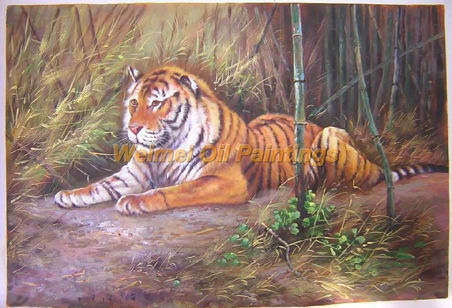 动物油画-老虎油画
