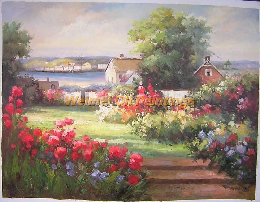 零售价:620元 刀油画风景:yx039 尺寸:24*36英寸 零售价:350元 花园景