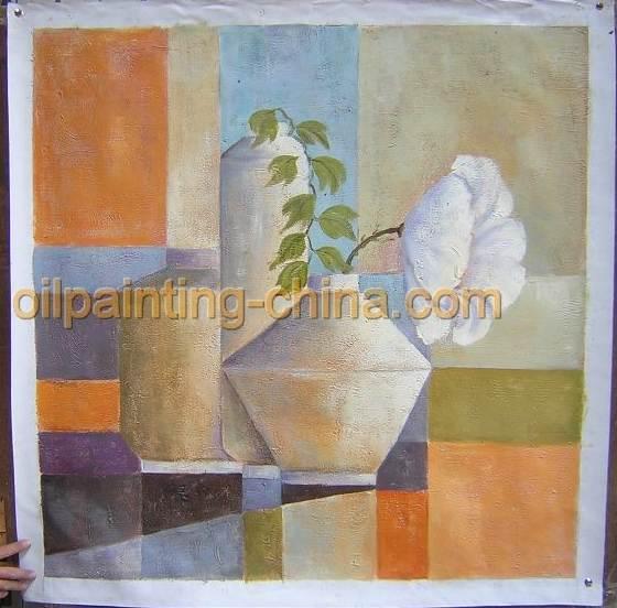 装饰画,抽象油画,几何型抽象画,花